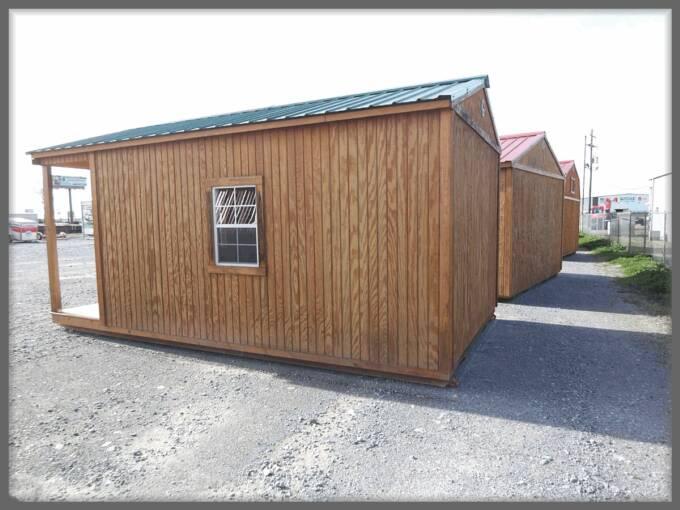 Portable side porch cabin