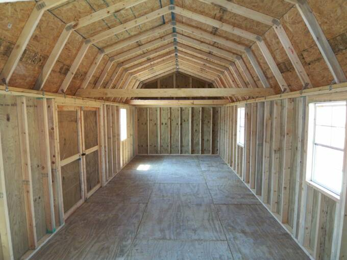 12 X 32 Side Lofted Barn Pics Page