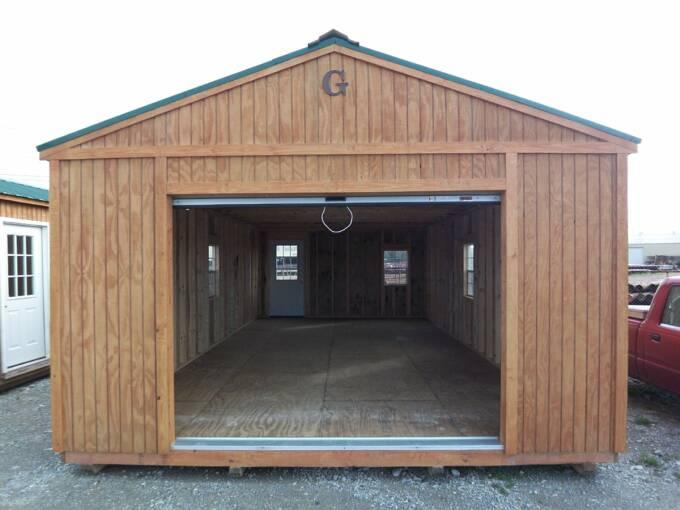 16x28PortableGarageWithExtraWindow – 16 X 32 Garage Plans