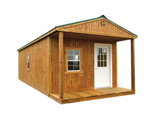 Graceland Portable Buildings Front Porch Cabin Sales Free