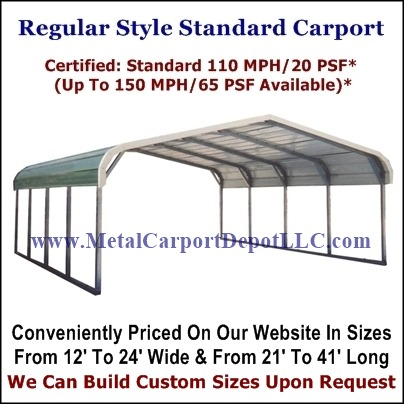 Regular Style Metal Carports