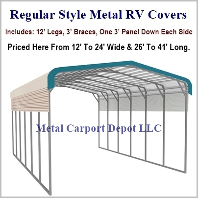 Regular Style Metal RV Covers