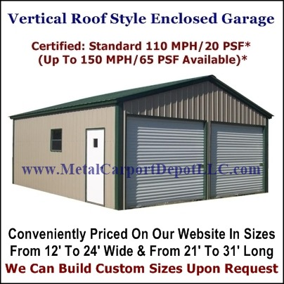 Vertical Roof Style Metal Buildings