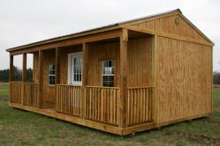 16x24 side porch cabin