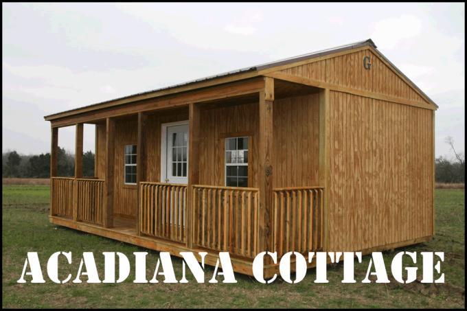 Graceland Side Porch Cabin & Graceland Portable Buildings: Garages Cabins Sheds Barns
